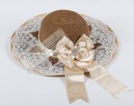 Svarowski Taşlı Dantelli Şapka