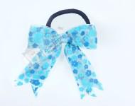 Mavi Çiçekli Lastik Toka