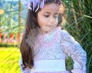 Pembe - Beyaz Tüylü Elbise