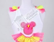 Neon Minnie Mouse Badi