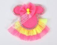 Neon Minnie Mouse Klips Toka